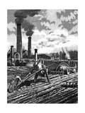 Robots as the Farm Workers of the Future Giclee Print
