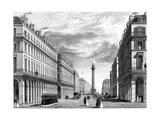 Paris, France - Rue Castiglione Et La Place Vendome Giclee Print