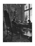 Emile Zola at Work Giclee Print