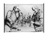 Chess - Bismarck, Pope Giclee Print