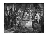 Charlemagne Crowned Giclee Print
