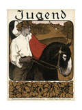 Jugend Front Cover, Young Man on a Donkey Giclee Print
