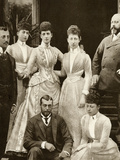 Prince Edward and Alexandra of Denmark's Five Children 1891 Photographic Print