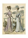 Racegoers Fashions 1899 Giclee Print