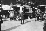 Paris Street Scene 1900 Photographic Print