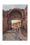 The Stabian Gate, Pompeii Giclee Print by Alberto Pisa