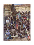 Recording New Guinea Giclee Print by Achille Beltrame
