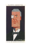 Sir Austen Chamberlain Giclee Print by Alick P.f. Ritchie
