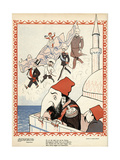 Turkey Loses Crete Giclee Print by Alfred Schmidt