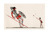 David and Goliath Giclee Print by AE Marty