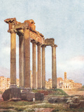 Temple of Saturn, Forum Photographic Print by Alberto Pisa