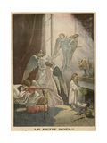 Angels in Bedroom Giclee Print by Alfred Pronier