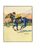 Racehorse Training 1909 Giclee Print by A. Rapeno