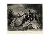 Queen Victoria with Albert and Five Children Giclee Print