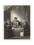 King Henry VII and Ministers Giclee Print by AH Payne