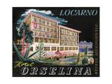 Label, Hotel Orselina, Locarno, Switzerland Giclee Print