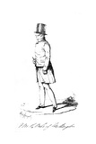 Wellington Walking Giclee Print by Alfred Crowquill