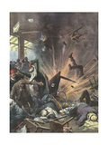 Terrorist Bomb, 1939, Asia Giclee Print by Achille Beltrame