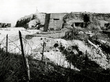 After WW1 - the Battlefield at Fort Vaux in Verdun, France Photographic Print