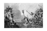 Caesar Invades Britain Giclee Print by A. Warren