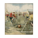 Cycle Football, Berlin Giclee Print by Alfredo Ortelli