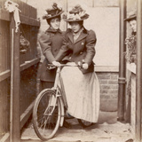 1890S Cycling Ladies Photographic Print