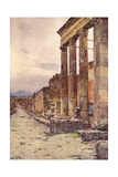 Street of Isis, Pompeii Giclee Print by Alberto Pisa
