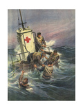 Rescue Rafts Giclee Print by Achille Beltrame