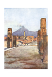 Street View - Pompeii Giclee Print by Alberto Pisa