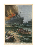 Georges Philippar Fire Giclee Print by Achille Beltrame