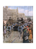 French Occupy the Ruhr Giclee Print by Achille Beltrame