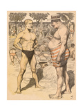 Men on Beach, Munzer Giclee Print by Adolf Munzer