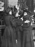 Trying on a Hat 1905 Photographic Print
