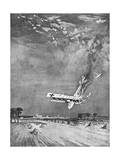 German Gotha Plane Brought Down over Thanet, WW1 Giclee Print