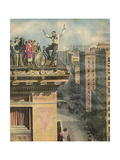 Cycle Stunt in Usa Giclee Print by Alfredo Ortelli