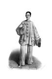 Pierrot, Debureau, Wine Giclee Print by Alexandre Lacauchie