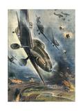 Stukas Bomb Norway Giclee Print by Aldo Raimondi