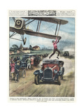From Plane to Car 1928 Giclee Print by Alfredo Ortelli