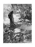 Friedrich 1 Drowns Giclee Print by Alphonse Mucha
