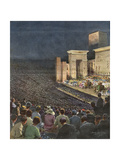 Music, Opera, Verdi, Aida Gicleetryck av Achille Beltrame