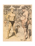 Lean and Portly 1904 Giclee Print by Adolf Munzer