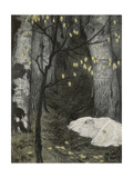 Child Abandoned in the Woods Giclee Print by Adolf Munzer