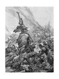 Julian Defeats Alamanni Giclee Print by Alphonse Mucha