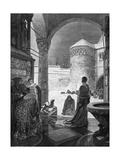 Heinrich IV at Canossa Giclee Print by Alphonse Mucha