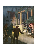 Robot Guard Dog Deters Burglars Giclee Print by Alfredo Ortelli
