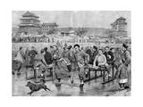 Chinese Skaters 1896 Giclee Print