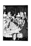 Battle of the Beaux and Belles, Aubrey Beardsley Giclee Print by Aubrey Beardsley