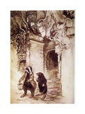 Badger and Mole, Willow Giclee Print by Arthur Rackham