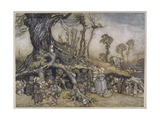 The Little Folk's Market Premium Giclee Print by Arthur Rackham