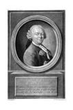 Gottlieb Rabener Giclée-tryk af Anton Graff